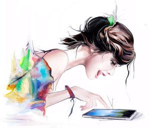 Девушка с планшетом